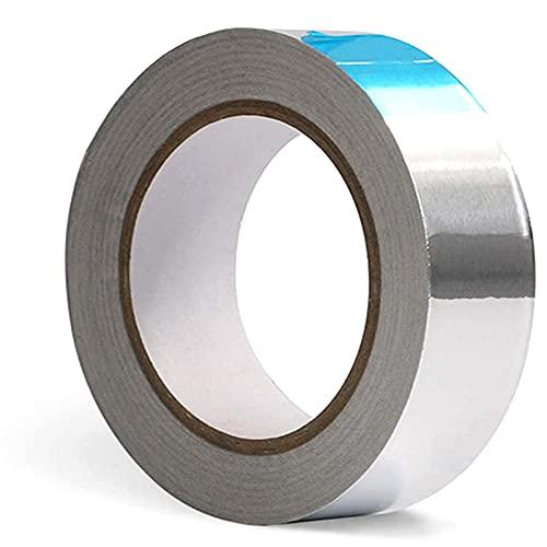 Xinlie Aluminiumband Hitzebeständig Aluminiumklebebänder Aluband Selbstklebend Alu-Klebeband Aluminium Klebeband zum Abdichten oder Dämmen 30 * 300mm (1 Rolle, Silber)