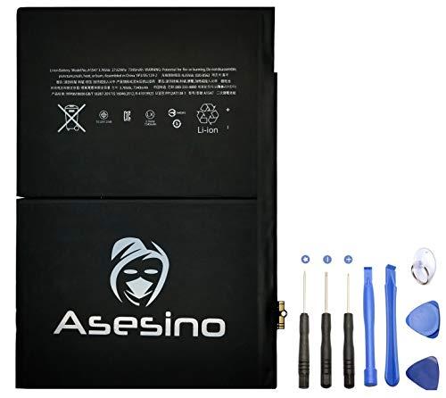 Asesino Akku kompatibel mit Apple iPad Air 2/iPad 6 (7340mAh) Batterie mit Kleber + Ersatz-Toolkit für A1547, A1566, A1567 [12 Monate Garantie]