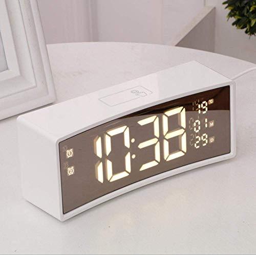 Klok Creative Bedside 3D gebogen scherm zwevende lettertype intelligente elektronische nachtkastje Leuke Alarm