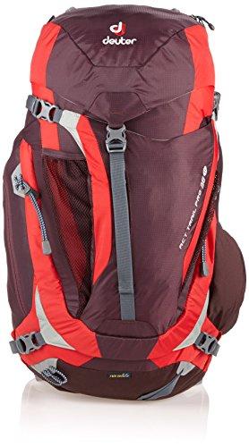 Deuter Act Trail Pro 38 SL Mochila, Unisex Adulto, Rojo (Aubergine/Fire), 24x36x45 cm (W x H x L)