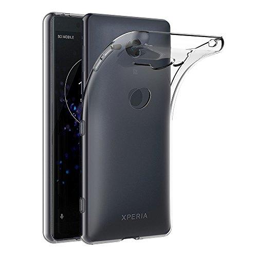 AICEK Coque Sony Xperia XZ2 Compact, Transparente Silicone Coque pour Sony XZ2 Compact Housse Silicone Etui Case (5,0 Pouces)