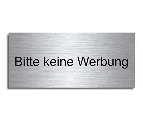Echtes Edelstahl Türschild Briefkasten-Schild   Größe: 8x3,5 cm