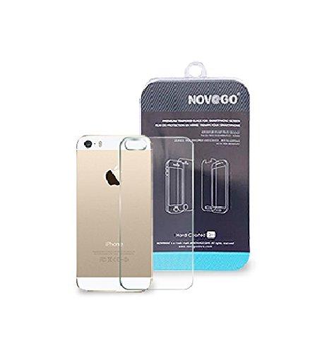 Novago - Protector de pantalla trasera de cristal templado para iPhone 5, 5s, resistente 0,26 mm 9H