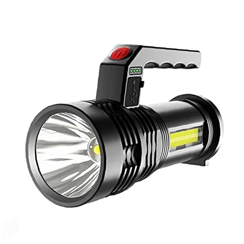 Torche LED lampe de poche rechargeable Camping Torche Portable Searchlight Torch USB Charge P50 Projecteur étanche pour pêche Lanterne Noir Entièrement adapté