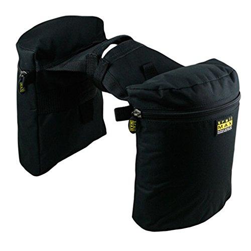 Trailmax Original - Alforjas para silla con cuerno - Equipaje para silla vaquera de cowboy - Negro