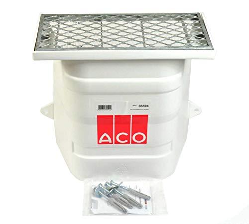 ACO Lüftungsschacht 40x40 ohne Boden Kellerschacht mit Streckmetallrost Lüftung Keller