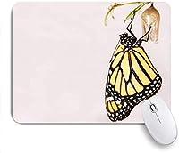 印刷されたマウスパッド創造的なかわいい動物旅行者の蝶、ゲームプレーヤーのオフィスのための装飾的なマウスパッド、机の装飾、9.5x7.9インチ