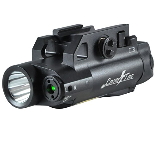 LaserTac CL7-G Green Laser Sight and Tactical Flashlight Combo for Pistol and Rifle with Remote Switch