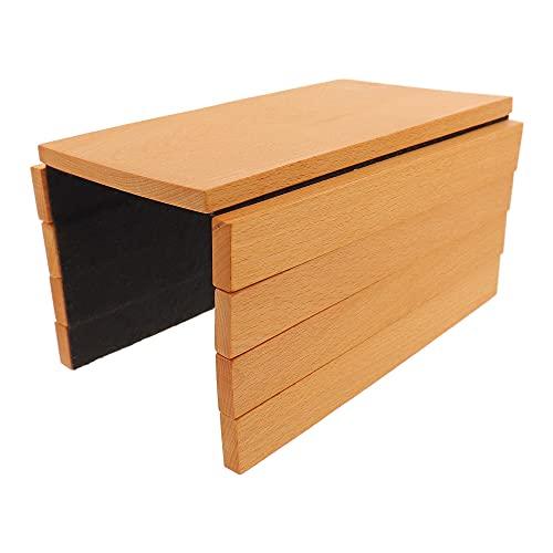 HOFMEISTER® Sofa Butler, dienblad voor armleuningen, flexibel, bovenkant van geolied beukenhout, onderkant van vilt, 28 cm