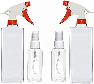 MAAP Empty Transparent 100 ml Mist Spray Bottle with Transparent 500 ml Trigger Spray Bottle for Liquid Sprayer MT-BOT-30 ...