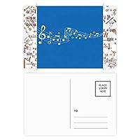 ブルーmovg音楽5-leスタッフ 公式ポストカードセットサンクスカード郵送側20個