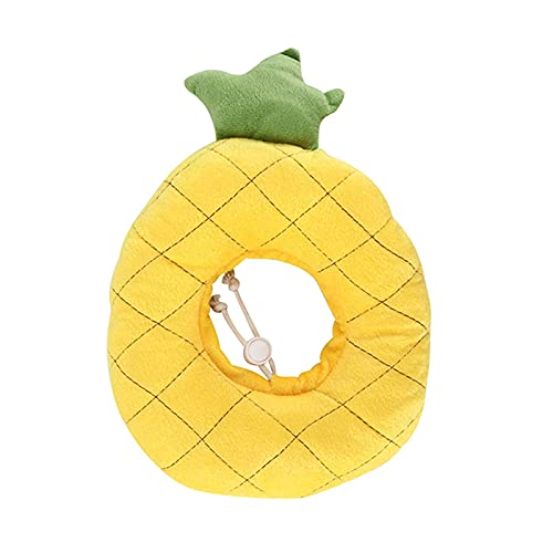 WGFGQX Pet Cable Elizabethan Collar Soft Soft Cable Cat Ajustable Ajustable Collar DE CUANTA DE LA HERRACIÓN PREVENCION FQYXLX (Color : Pineapple)