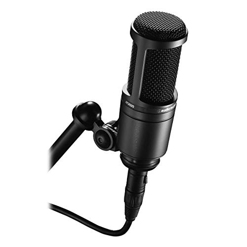 Audio-Technica AT2020 Cardioid Condenser Studio XLR Microphone, Black, Ideal for...