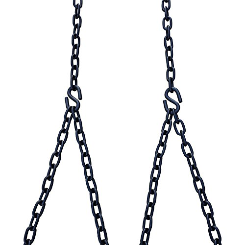 Barn-Shed-Play Heavy Duty 700 Lb Porch Swing Black Hanging Chain Kit (10 Foot Ceiling)