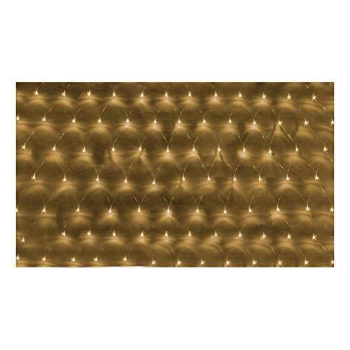 E-db LED Lichternetz 3M x 2M 200 LED Lichterkette Nachtlicht/Weihnachtsdekorationlichter/Weihnachten Hochzeit Vorhang Lichterkette Seile/Garten/Hotel/Festival/Dekoration Stimmungs (Warmes Weiß)