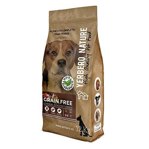 YERBERO Nature Grain Free de Cordero Comida para Perros SIN Cereales 12kg