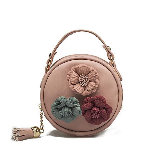 TIFIY Mädchen Blumen Schultertasche Mini Handtasche Rosa Kuriertasche Damen lässigen Beuteltasche