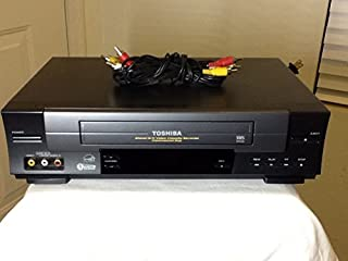 TOSHIBA W-528 VCR Video Cassette Recorder 4-Head Hi-Fi Stereo VHS Player. Commercial Skip Feature. Energy Star Rated Devic...