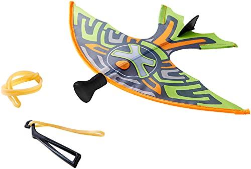 HABA 303572 - Terra Kids Schleuder-Gleiter, Schleuder und Gleiter in einem für Kinder, aus Kunststoff, weiche Spitze, hervorragende Flugeigenschaften, mit Ersatz-Spanngummis