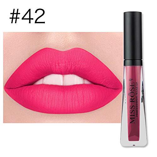 POachers Rouge à Lèvres Mat - Classique Maquillage Waterproof à Lèvres Liquide Beauté Brillant Lip Gloss Liquid Matte Longue Tenue Gloss Lipstick