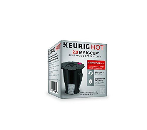 Keurig 2.0 My K-Cup Reusable Ground Coffee Filter, Compatible with All 2.0 Keurig K-Cup Pod Coffee Makers, 1 Count, Black