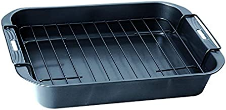 Wiltshire Deep Roast Pan, With Rack 36cm, Charcoal Grey