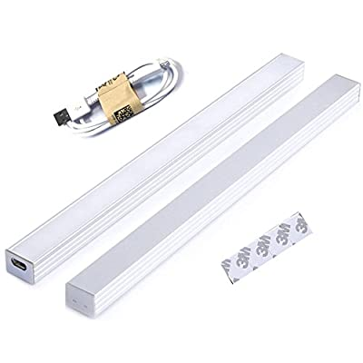 INVESCH Portable USB Reading Strip Light Dimmable LED Desk Lamp TV Monitor Backlight Under Cabinet Lighting with Touch Control Dimmer Switch