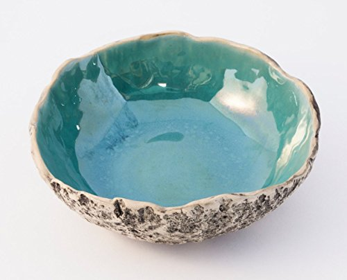 Stunning BERMUDA TURQUOISE handmade ceramic soup bowl, stoneware pottery salad bowl, Muesli & Serving bowl, Wedding gift, Christmas & Birthday gift. 7 natural color glaze variations to choose from.