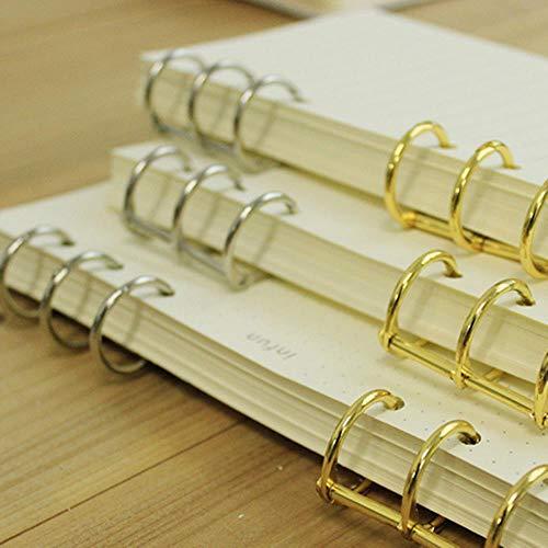 Heng Goud Zilver Losbladig IJzer Split Scharnierende Ringen Scrapbooking Binder Album Kalender Praktisch Notitieboekje Losbladige Binder 3-ring, Zilver