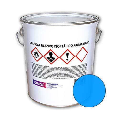 Gelcoat Isoftálico Parafinado Nazza | Topcoat Resistente a Rayos UV e Hidrólisis | Color Azul | 5 Kg.