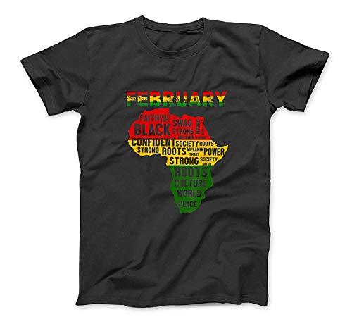 Black History Month Hemd Afrikanische Karte Farben T-Shirt SweatshirtHoodie Tank Top für Männer Frauen Kinder