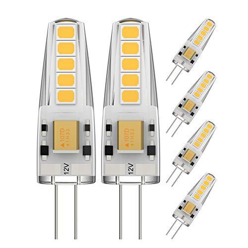 Ralbay 3W G4 LED Lampe, 10X 2835SMD, 300LM, Ersatz für 30W Halogenlampen, Nicht Dimmbar, 12V AC/DC, 3000K Warmweiß, 360° Abstrahlwinkel, G4 LED Birnen, G4 LED Leuchtmittel, 6er Pack