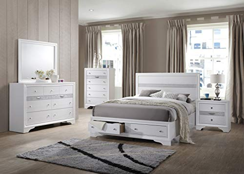 Kings Brand Furniture - 6-Piece - Watson King Size Bedroom Set. Bed, Dresser, Mirror, Chest & 2 Night Stands