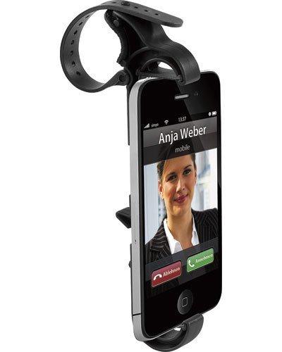 Callstel Handyhalterung Lenkrad: Universal-Lenkrad-Halterung für Smartphones & Handys (Handy Lenkradhalterung)