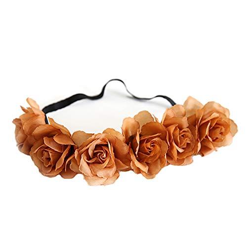Yazilind Blume Frauen Blume Festival Hochzeit Beach Party Haar Kranz Stirnband Haarschmuck Kaffee