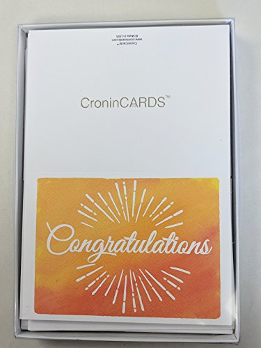 Congratulations Cards: Colorful Assortment – 30 Boxed Blank Note Cards + 32 Envelopes by CroninCards Photo #2