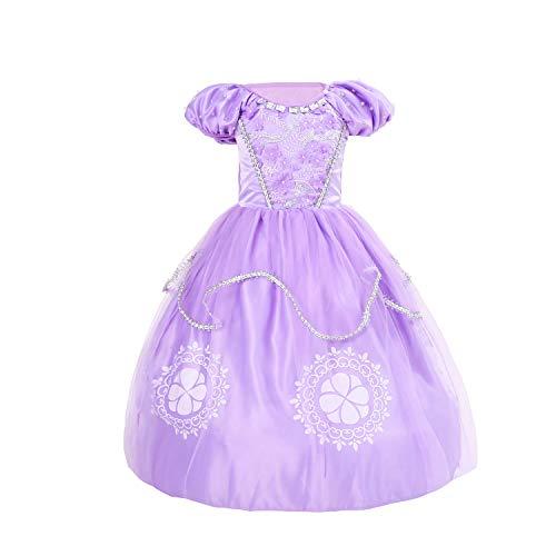 zhenlanshangmao Halloween Vestido de niños Sophia Princesa Vestido de Navidad Sofia Vestido...