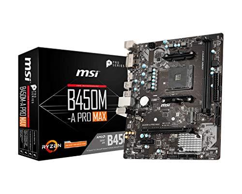 MSI B450M-A PRO MAX AMD AM4 DDR4 m.2 USB 3.2 Gen 2 HDMI M-ATX Motherboard