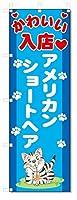 のぼり旗 アメリカンショートヘア (W600×H1800)猫、ペットショップ