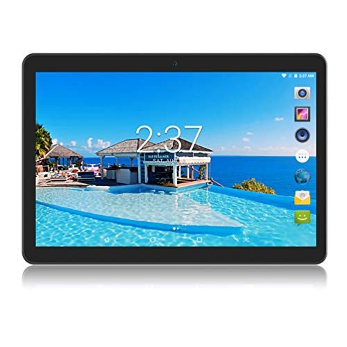 YELLYOUTH Android Tablet 10 Zoll with SIM Card Slot Octa Core 4GB RAM 64GB ROM 3G GSM Tablets PC Unlocked GPS WiFi Camera Pad (schwarz)