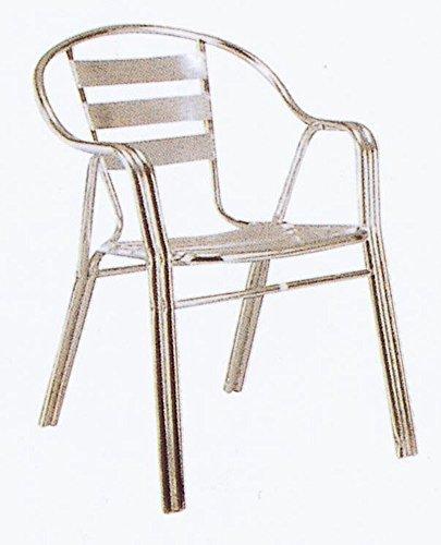 ジャービス商事 アルミニウムファニチャー ガーデンチェア アルミチェア(2脚組) YC020 32606