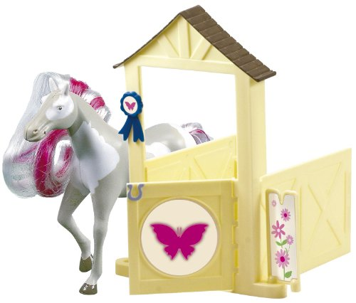 Lansay - 12057 - Figurine - Horseland Cheval et Box - Butterfly
