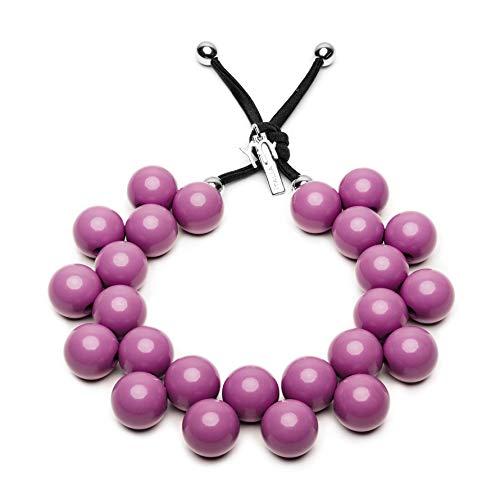 BallsMania Elastische Halskette, Farbe Eelso, Idee, Halskette für Damen, Schmuck für Damen, Modeschmuck, 100% Made in Italy