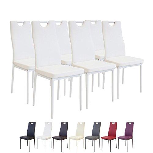 Albatros 2915 Salerno Set di 6 sedie da Pranzo, Bianco