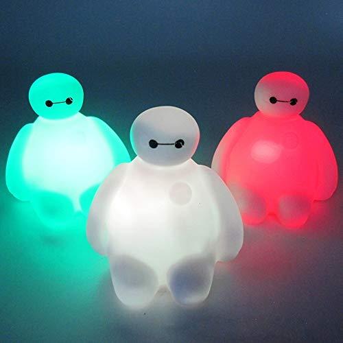 """Luz de Nocturna Niños niños niños juguete de dibujos animados lindo 7 cambio de color""""Dabai"""" gran héroe BayMax LED luces nocturnas decoración Niños habitación"""