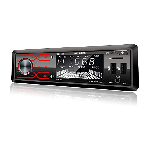 Audio Systems Single Din Stereo-LCD Bluetooth Audio and Hands-Free Calling,Built-in Microphone, MP3/USB, Aux-in, FM Radio Receiver (59813ub)
