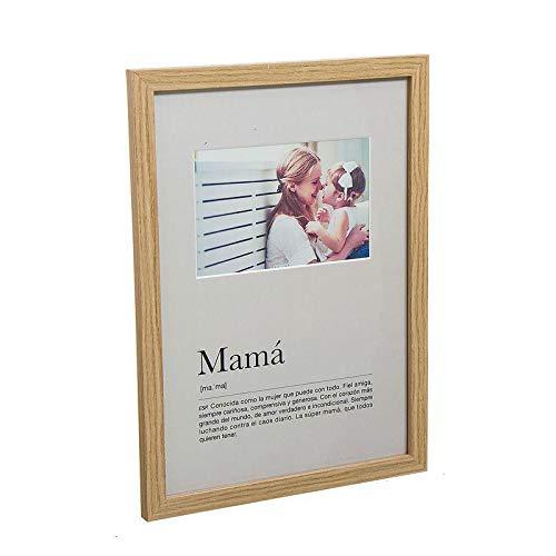 Dcasa Portafotos mamá Marcos de Fotos Decoración del hogar Unisex Adulto, Blanco, única