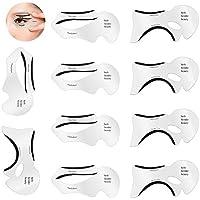 Ochilima 10 plantillas de delineador de ojos para ojos de gato y ojos ahumados, plantillas para modelos, plantillas de tarjetas, plantilla para modelar la parte inferior de la mujer