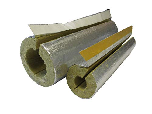 Kaminrohrschale, Rauchrohrisolierung Steinwolle alukaschiert 150 x 30 mm