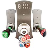 BAR NONE The Capstractor | Magnet Magnetic Fridge Bottle Opener Wall Mounted Bottle Opener Beer Opener Beer Bottle Opener Bottle Cap Opener Refrigerator Fridge Beer Bottles for Bartender Church Key
